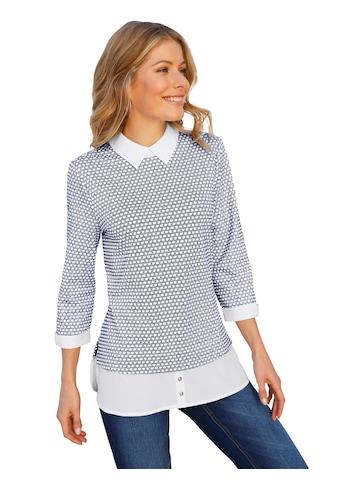 Inspirationen Shirt mit Schlingenknopf - Verschluss kaufen