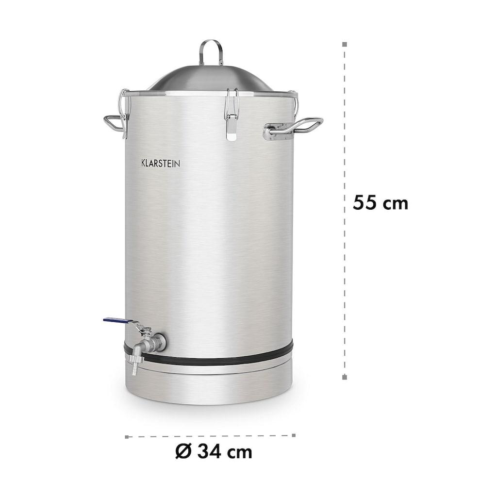 Klarstein Fermentierkessel 25 Liter Gärröhrchen 304-Edelstahl