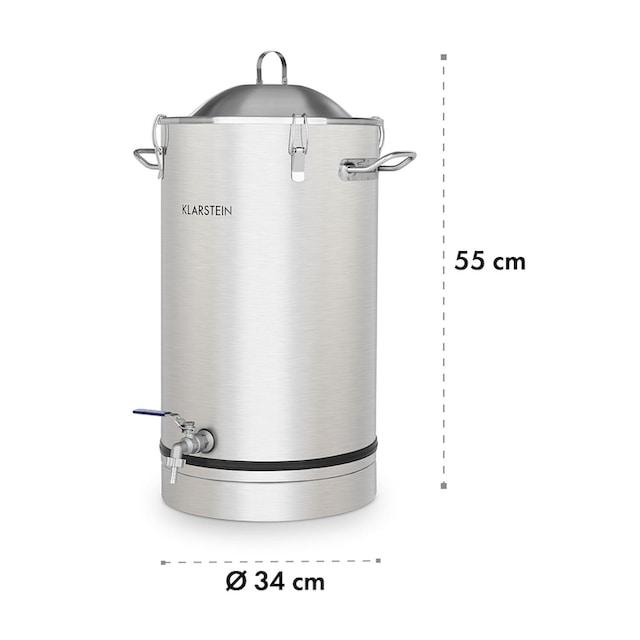 Klarstein Fermentierkessel 25 Liter Gärröhrchen 304-Edelstahl »Maischfest Fermenter«