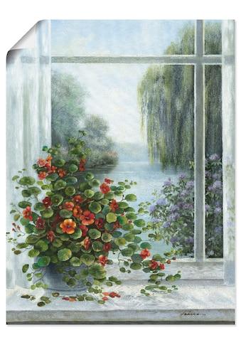 Artland Wandbild »Kapuzinerkresse am Fenster«, Arrangements, (1 St.), in vielen Größen... kaufen