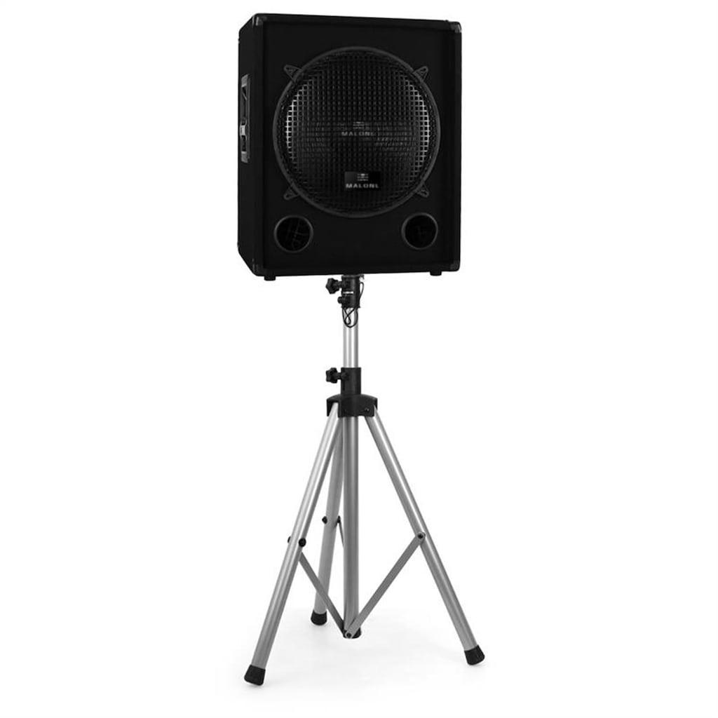 Malone Boxenstativ für PA-Boxen 25kg Belastbarkeit silber Alu »PW Speaker«