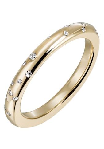 Firetti Diamantring »Feminin, ca. 2,85 mm breit, Glanzoptik, massiv«, mit Brillanten kaufen