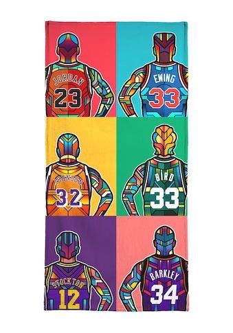 Juniqe Handtuch »NBA Legends«, (1 St.), Weiche Frottee-Veloursqualität kaufen