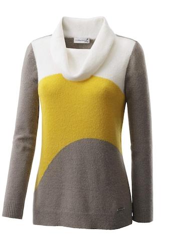 Casual Looks Pullover mit kuschligem, halsfernen Rollkragen kaufen