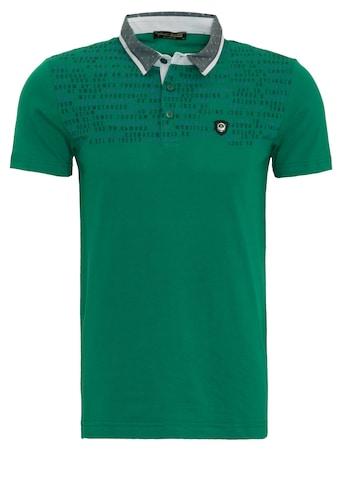 Daniel Daaf Poloshirt, mit Druck und Kontrastkragen kaufen