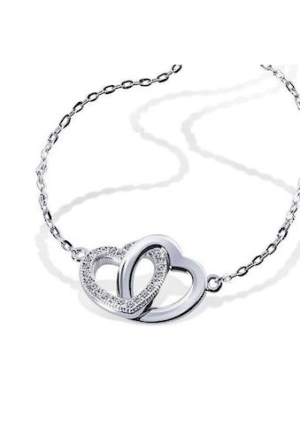 goldmaid Armband, 925/- Sterlingsilber Herzen 26 Zirkonia kaufen