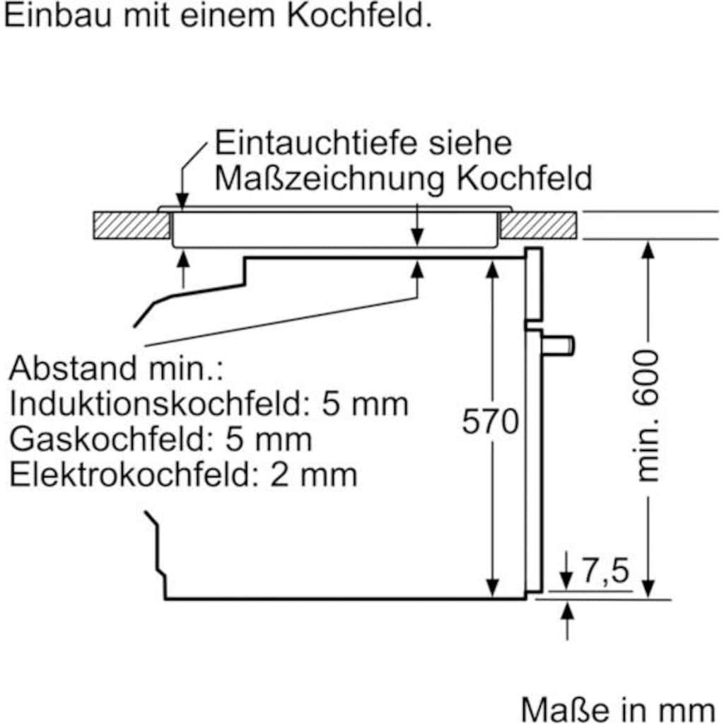 BOSCH Elektro-Herd-Set »HND411LM61«, HEA513BM2, mit Teleskopauszug nachrüstbar