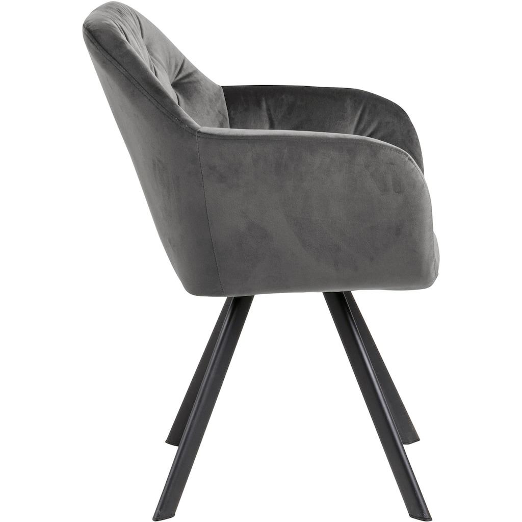andas Esszimmerstuhl »Lorelei«, mit einem weichen Samtvelour Bezug, wahlweise mit und ohne Autorückführung, Sitzhöhe 48 cm