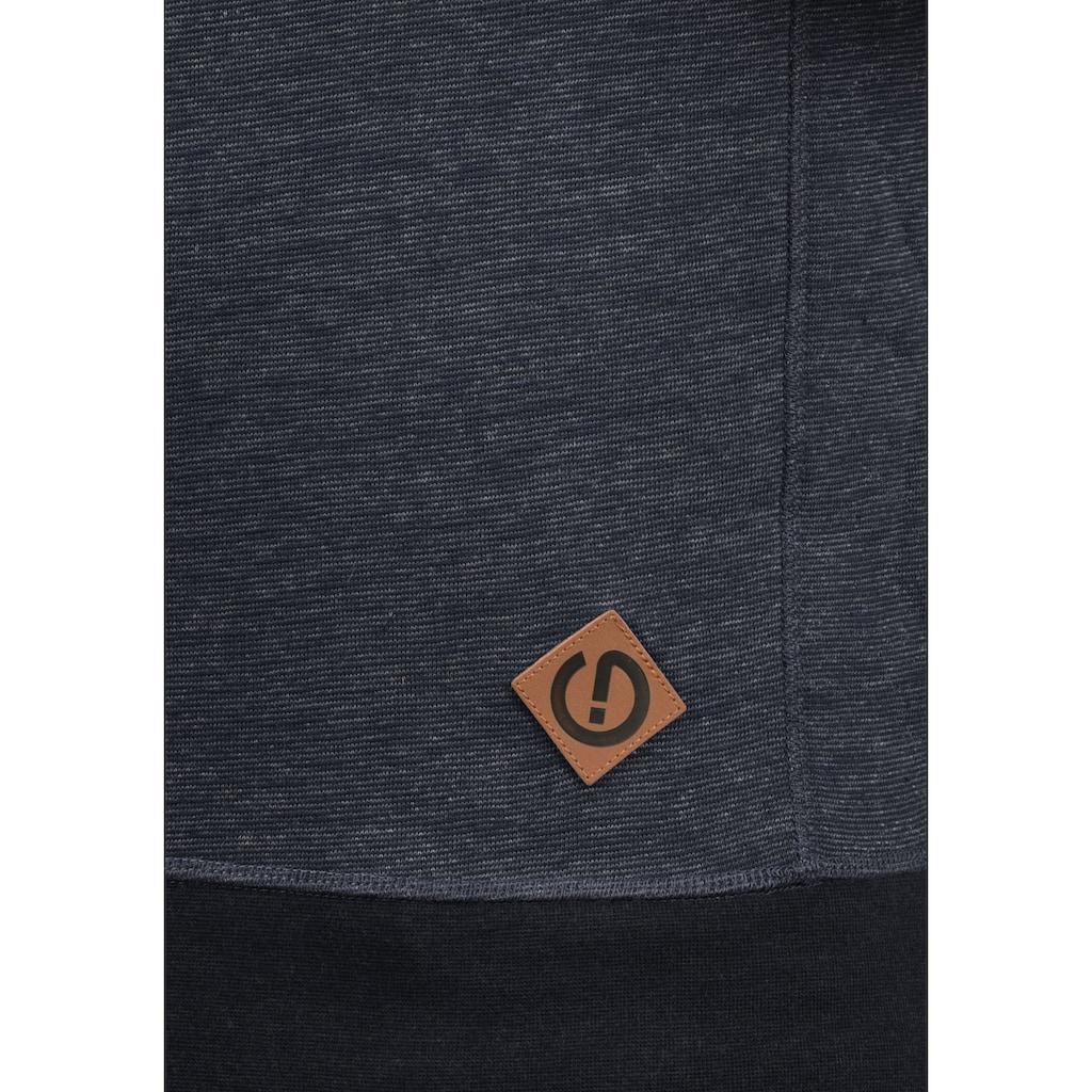 Solid Hoodie »VituNeck«, Sweatpullover mit dekorativen Ziernähten