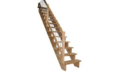 STARWOOD Massivholztreppe »Lindos«, B: 100 cm, gerade Ausführung, Geländer links kaufen