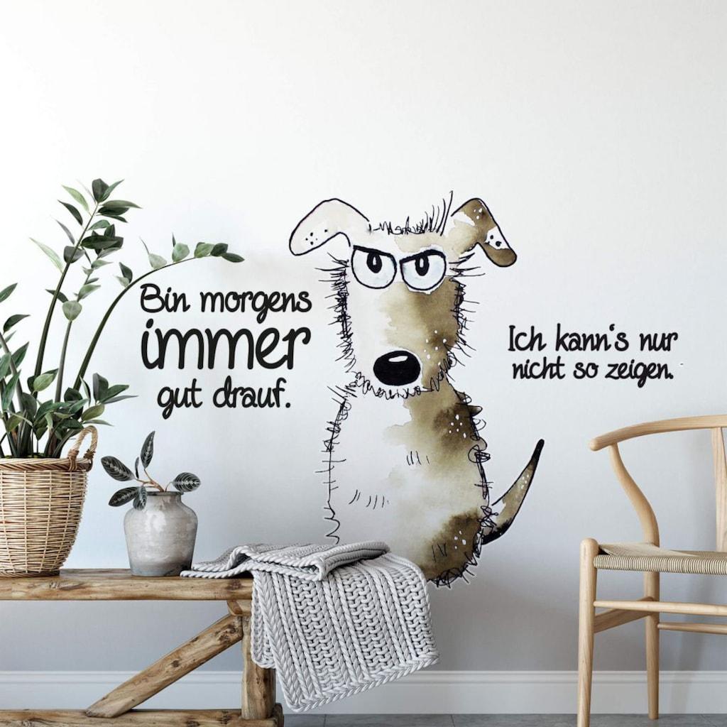 Wall-Art Wandtattoo »Bin morgens immer gut drauf«
