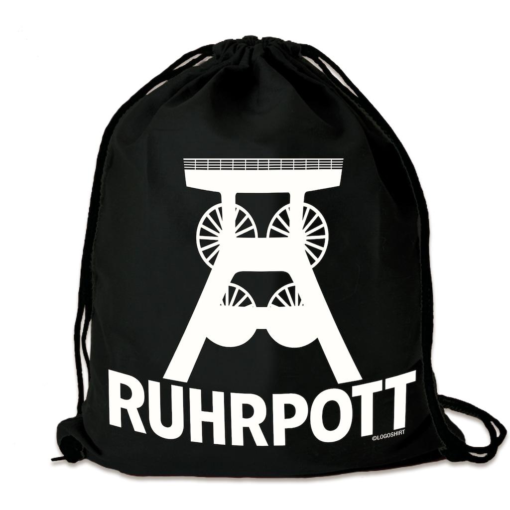 LOGOSHIRT Turnbeutel »Ruhrpott«, mit stabilem Kordelzug