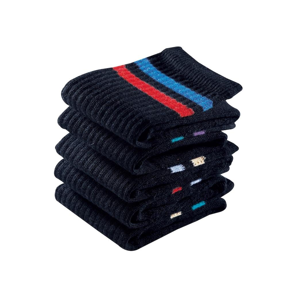 Go in Freizeitsocken, (6 Paar), mit farbigen Streifen