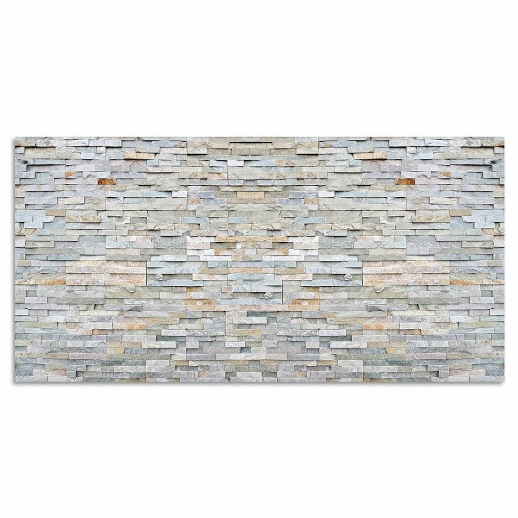 Home affaire Magnettafel »Stone Wall«, Memoboard, aus Glas, Stein Motiv