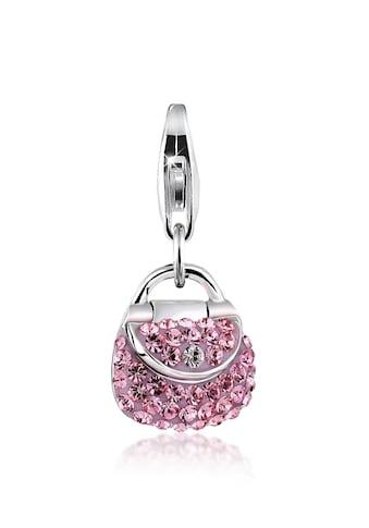 Nenalina Charm-Einhänger »Tasche Kristalle Anhänger 925 Silber« kaufen