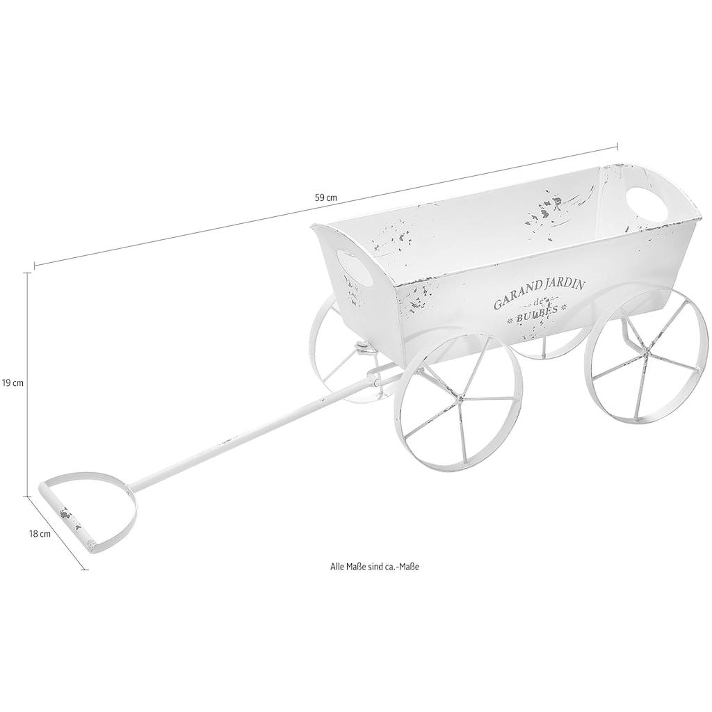 locker Blumentopf »Leiterwagen«