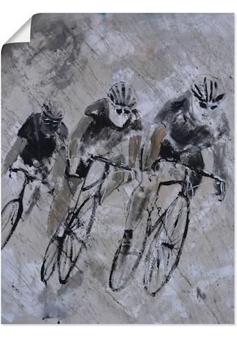 Artland Wandbild »Fahrrad fahren im Regen«, Fahrräder, (1 St.), in vielen Größen &... kaufen