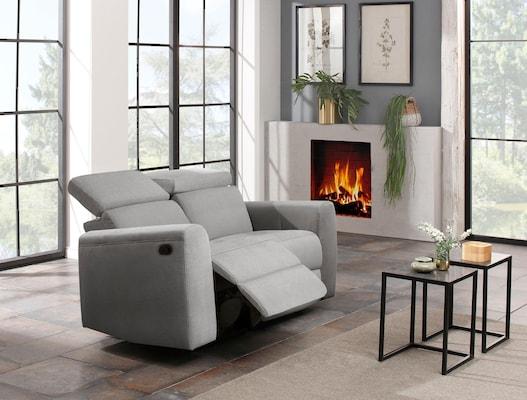 Relaxsofa in Grau