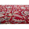THEKO Orientteppich »Benares Isfahan«, rechteckig, 12 mm Höhe, reine Wolle, handgeknüpft, mit Fransen, Wohnzimmer