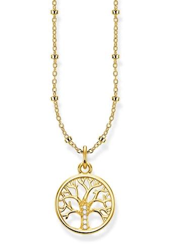 THOMAS SABO Kette mit Anhänger »KE1827-414-14-L45v, Tree of Love gold«, mit Zirkonia kaufen