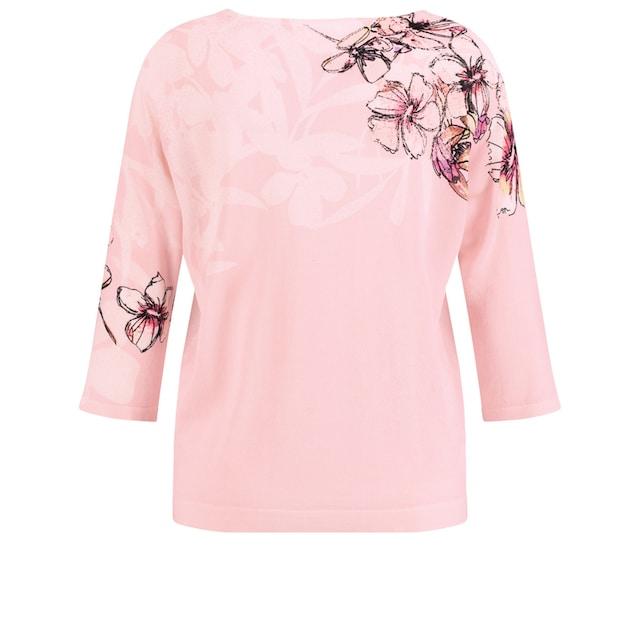 GERRY WEBER Pullover 3/4 Arm Rundhals »3/4 Arm Pullover mit Blütenranke«