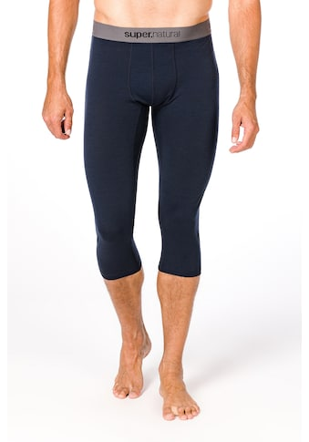 SUPER.NATURAL Funktionstights »M BASE 3/4 TIGHT 175«, atmungsaktiver Merino-Materialmix kaufen