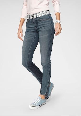 TOM TAILOR Polo Team Slim-fit-Jeans, (Set, 2 tlg., mit abnehmbarem Gürtel), mit sportivem Logo-Gürtel kaufen