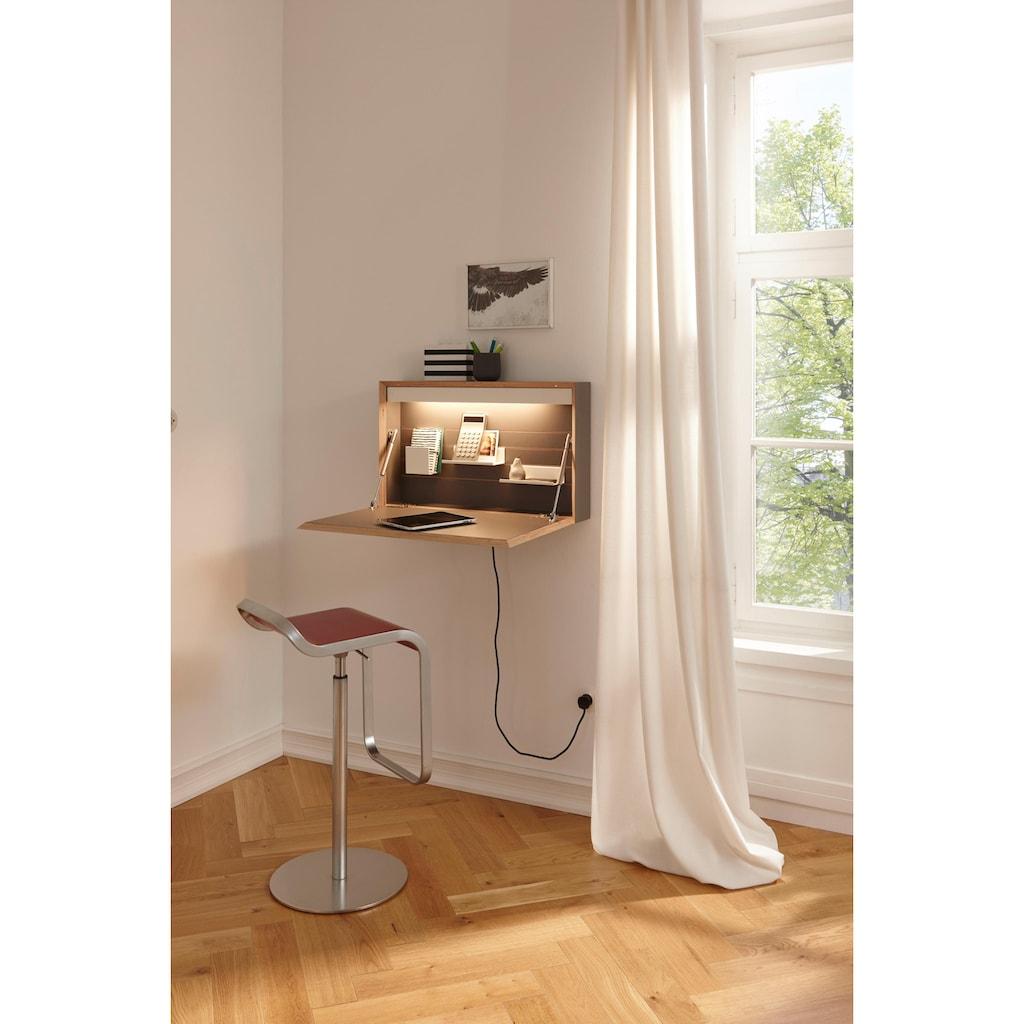 Müller SMALL LIVING Wandsekretär »FLATBOX«, hängend, wahlweise LED Beleuchtung mit Touch-Funktion oder An/Aus-Schalter inklusive integrierter Steckdose, Design by Michael Hilgers