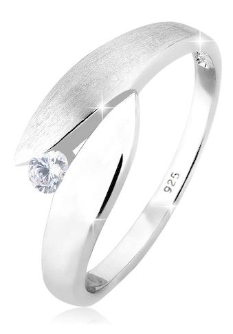 Elli Fingerring »Solitär Wickelring Zirkonia 925 Silber« kaufen