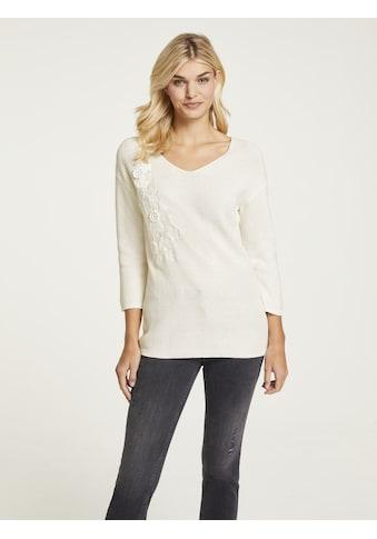 LINEA TESINI by Heine V-Ausschnitt-Pullover, mit Seide kaufen