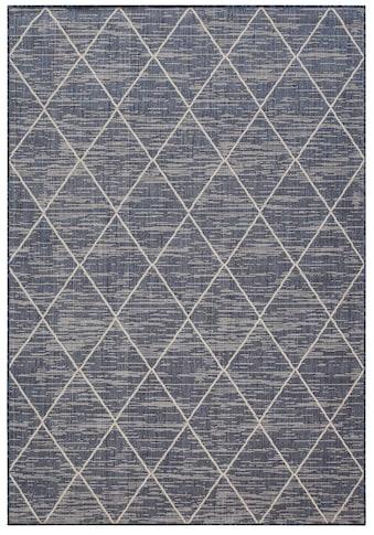 Home affaire Teppich »Dubai«, rechteckig, 3 mm Höhe, Flachgewebe, Rauten Design,... kaufen