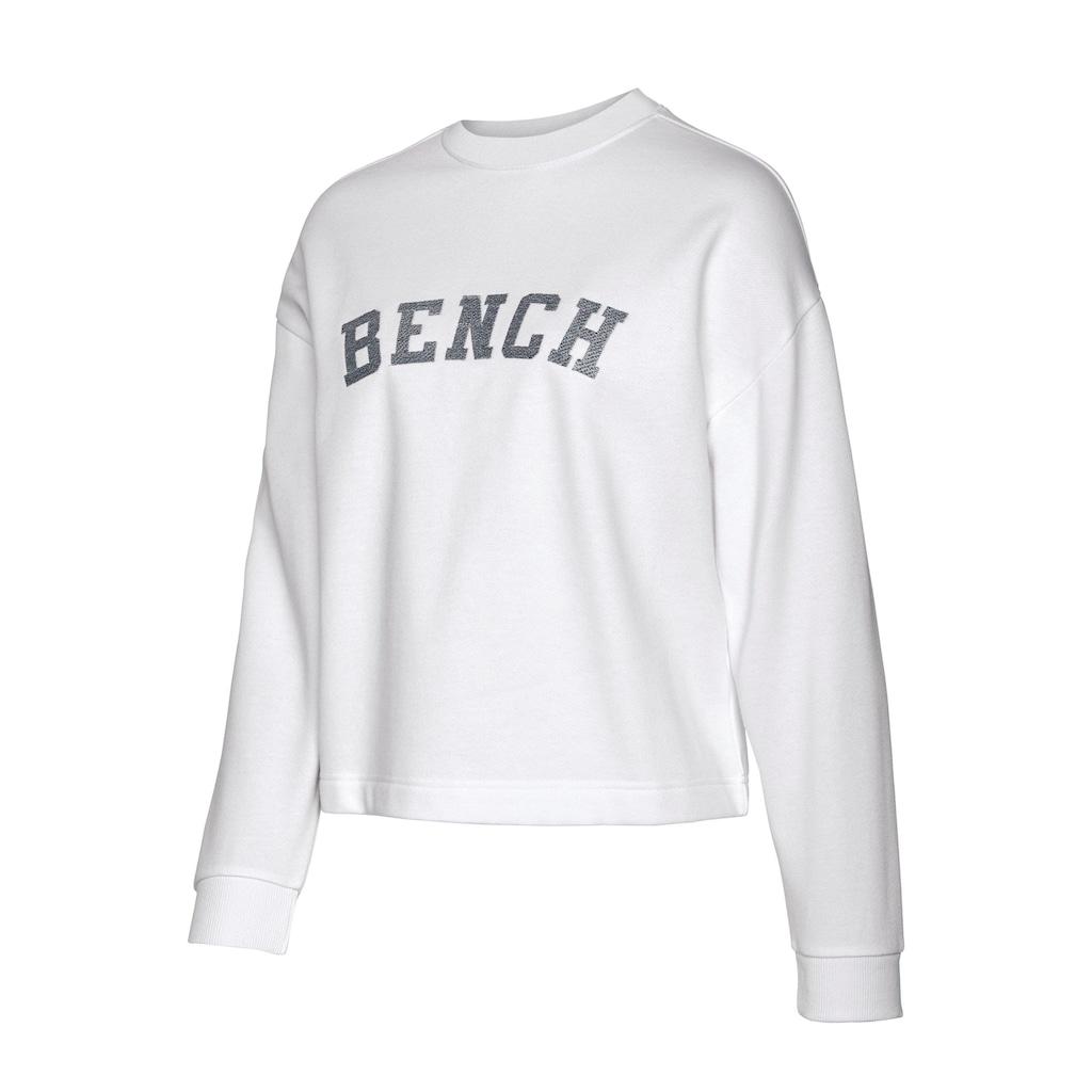 Bench. Sweatshirt, in Cropped-Form mit Logostickerei