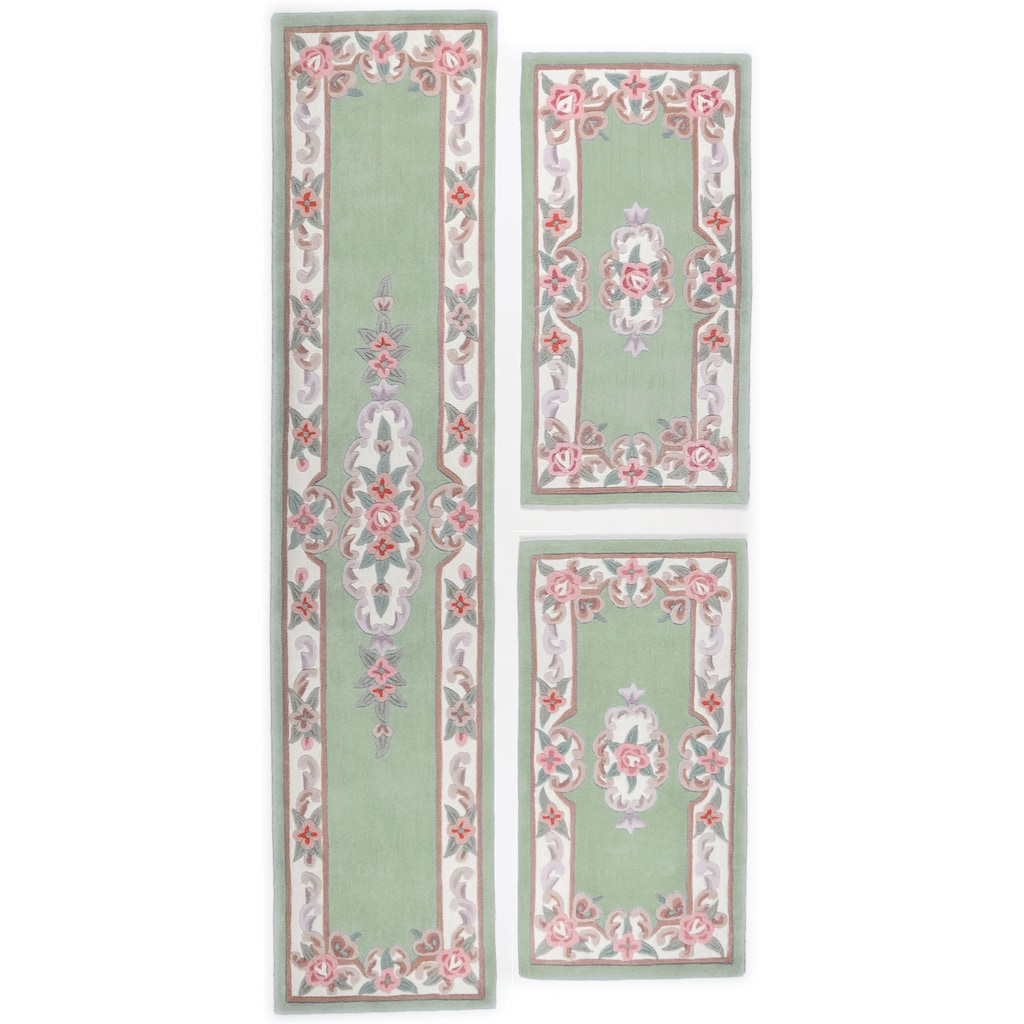 THEKO Bettumrandung »Ming«, Bettvorleger, Läufer-Set für das Schlafzimmer, hochwertiges Acrylgarn, florales Design