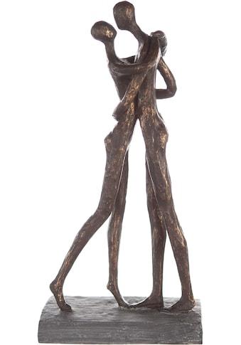 Casablanca by Gilde Dekofigur »Skulptur Cuddle, bronzefarben/grau«, Dekoobjekt, Höhe... kaufen