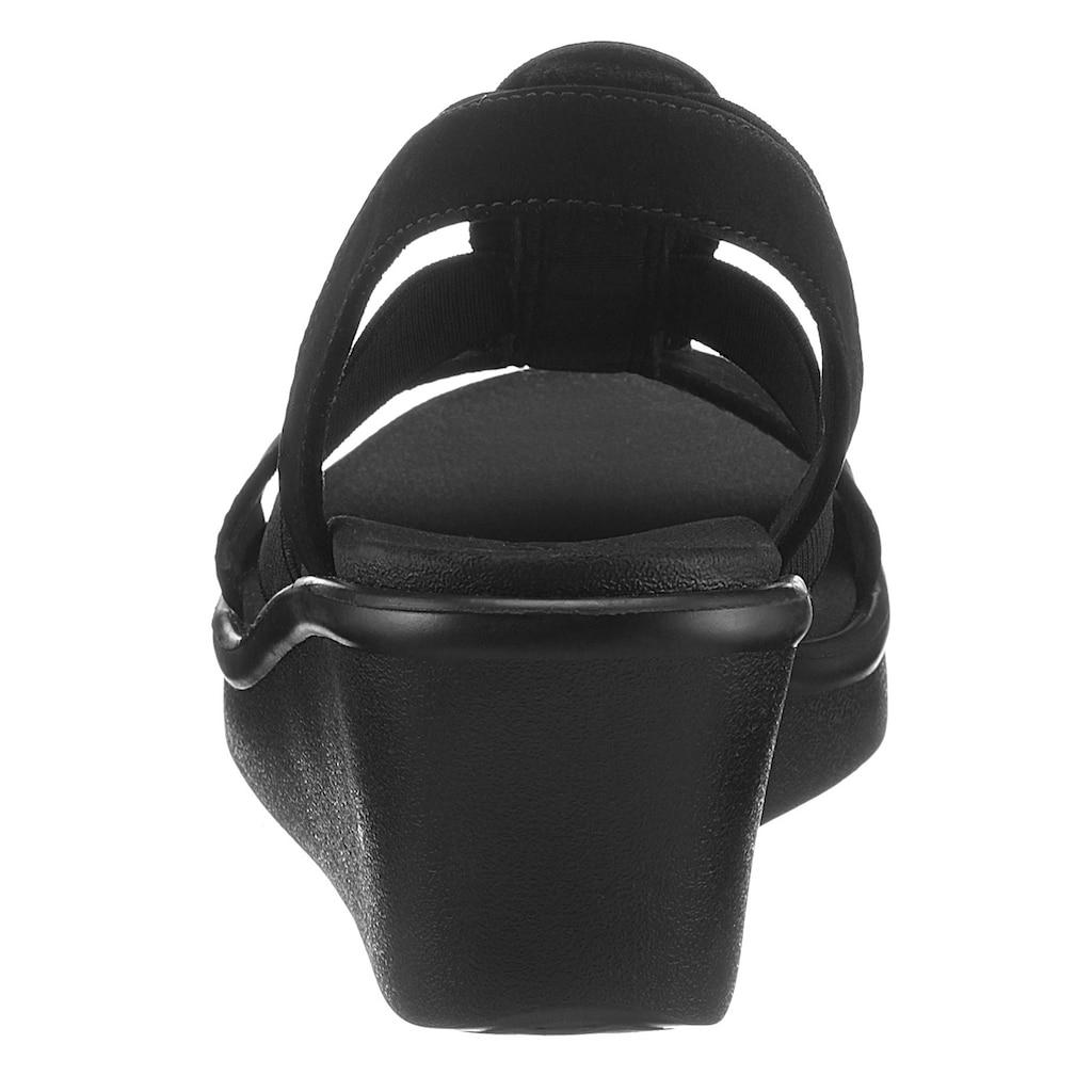 Skechers Keilsandalette »RUMBLE ON CAMP GLAM«, mit funkelnden Steinchen verziert