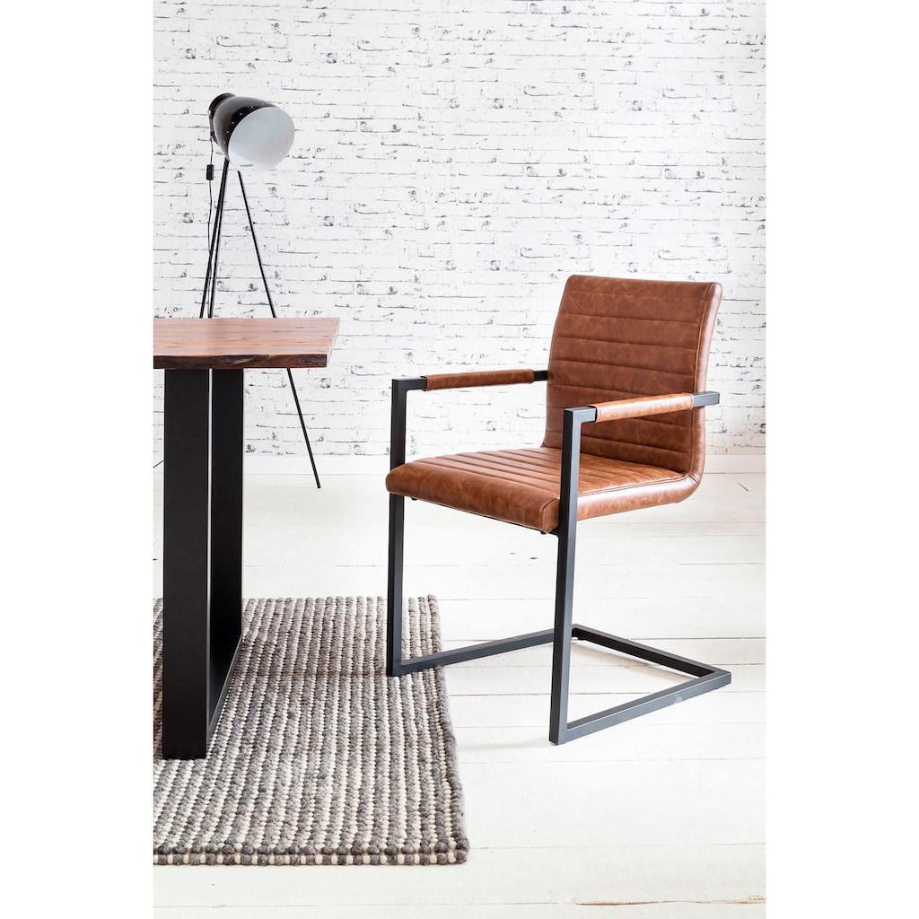 SalesFever Essgruppe, (Set, 5 tlg.), bestehend aus 4 Armlehnstühlen und einem 180 cm breitem Tisch