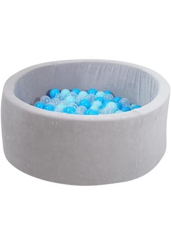Knorrtoys® Bällebad »Soft, Grey«, mit 300 Bällen soft blue/blue/transparent; Made in... kaufen