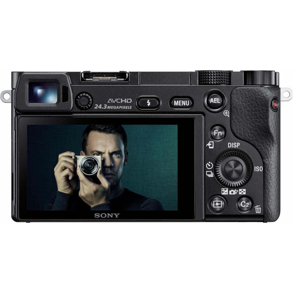Sony Systemkamera »Alpha ILCE-6000Z«, Carl Zeiss 16-70, 24,3 MP, WLAN (Wi-Fi), Gesichtserkennung, HDR-Aufnahme