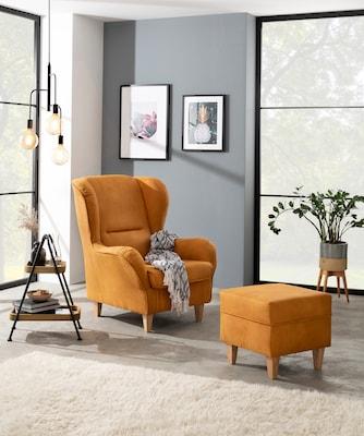 Ohrensessel in Orange