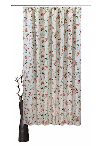 VHG Vorhang nach Maß »Miri«, Leinenoptik, Rose, Streifen, Breite 150 cm kaufen