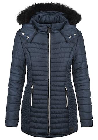 Blendshe Steppmantel »Sabia«, Mantel mit abnehmbarer Kapuze und Kunstfellkragen kaufen