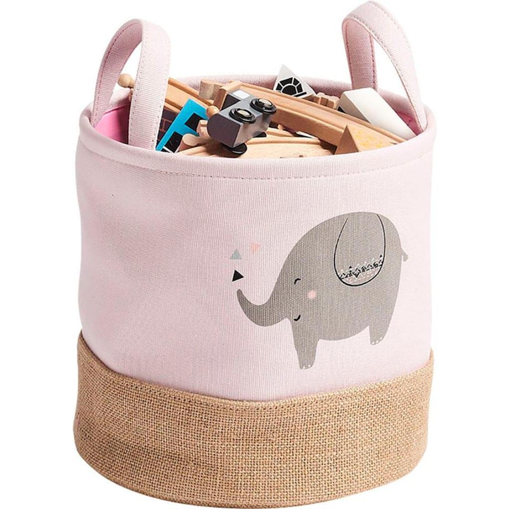 Zeller Present Aufbewahrungskorb »Elefant«, (Set, 2 St.)