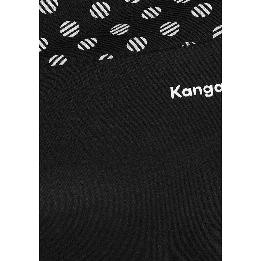 KangaROOS Sweatkleid, mit Print im Schulter- und Ärmelbereich