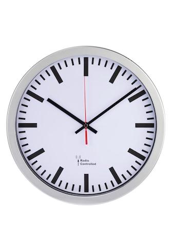 Hama Funkuhr Bahnhofsuhr Funkwanduhr 30 cm Durchmesser DCF Funk kaufen