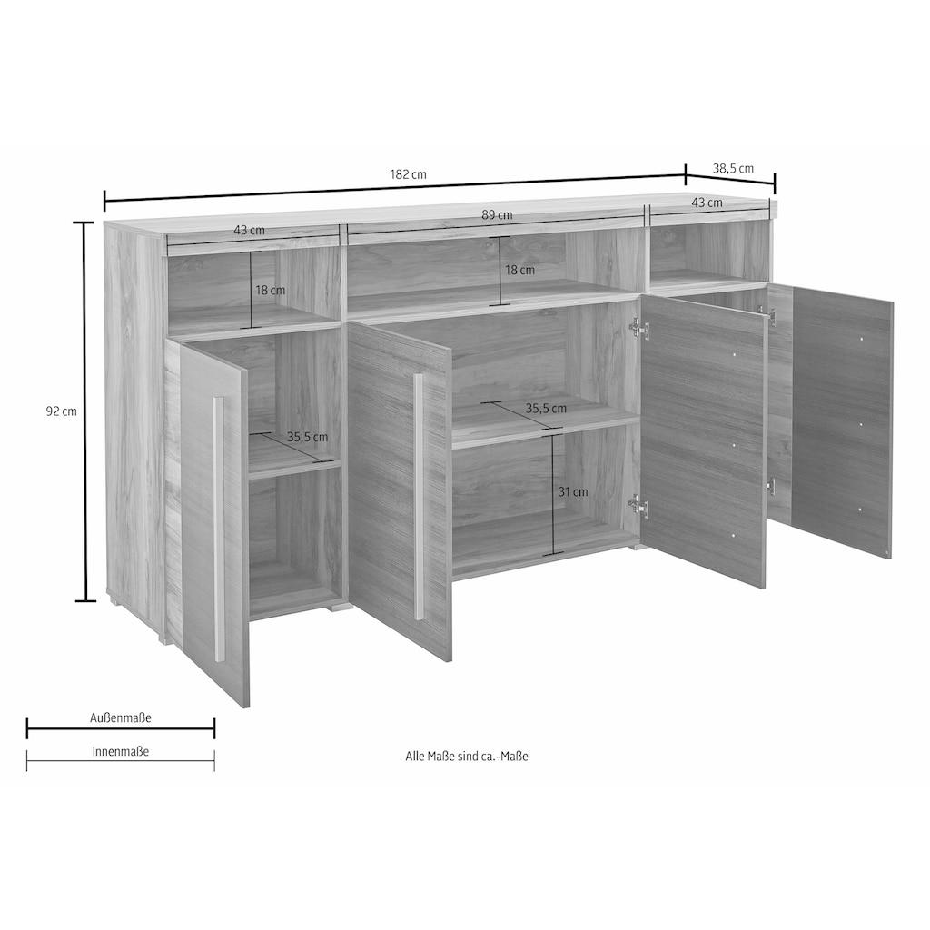 Helvetia Sideboard »Roger«, Breite 182 cm