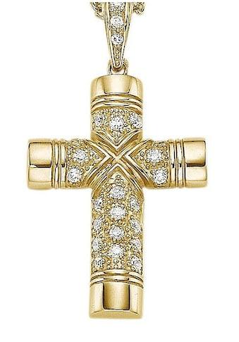 Firetti Kreuzanhänger »Kreuz, glanz«, mit Zirkonia kaufen