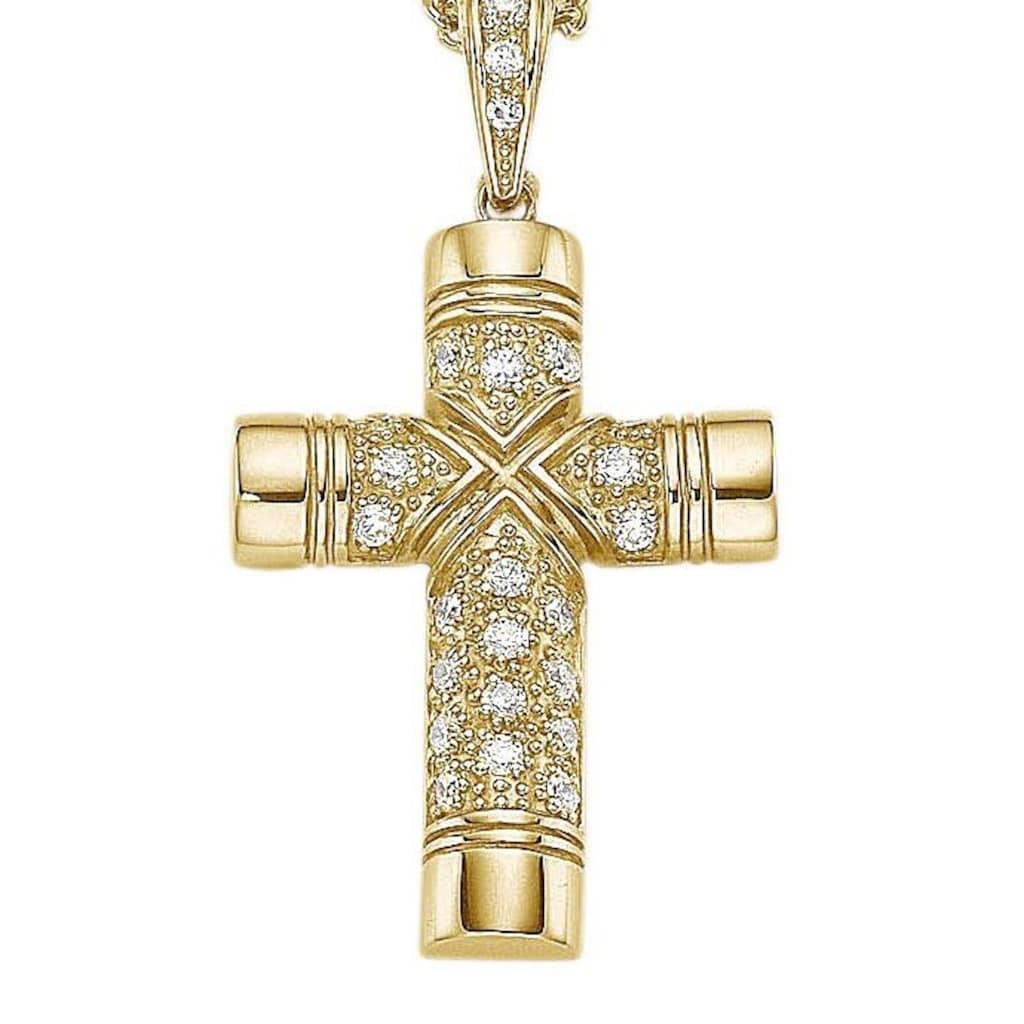 Firetti Kreuzanhänger »Kreuz, glanz«, mit Zirkonia