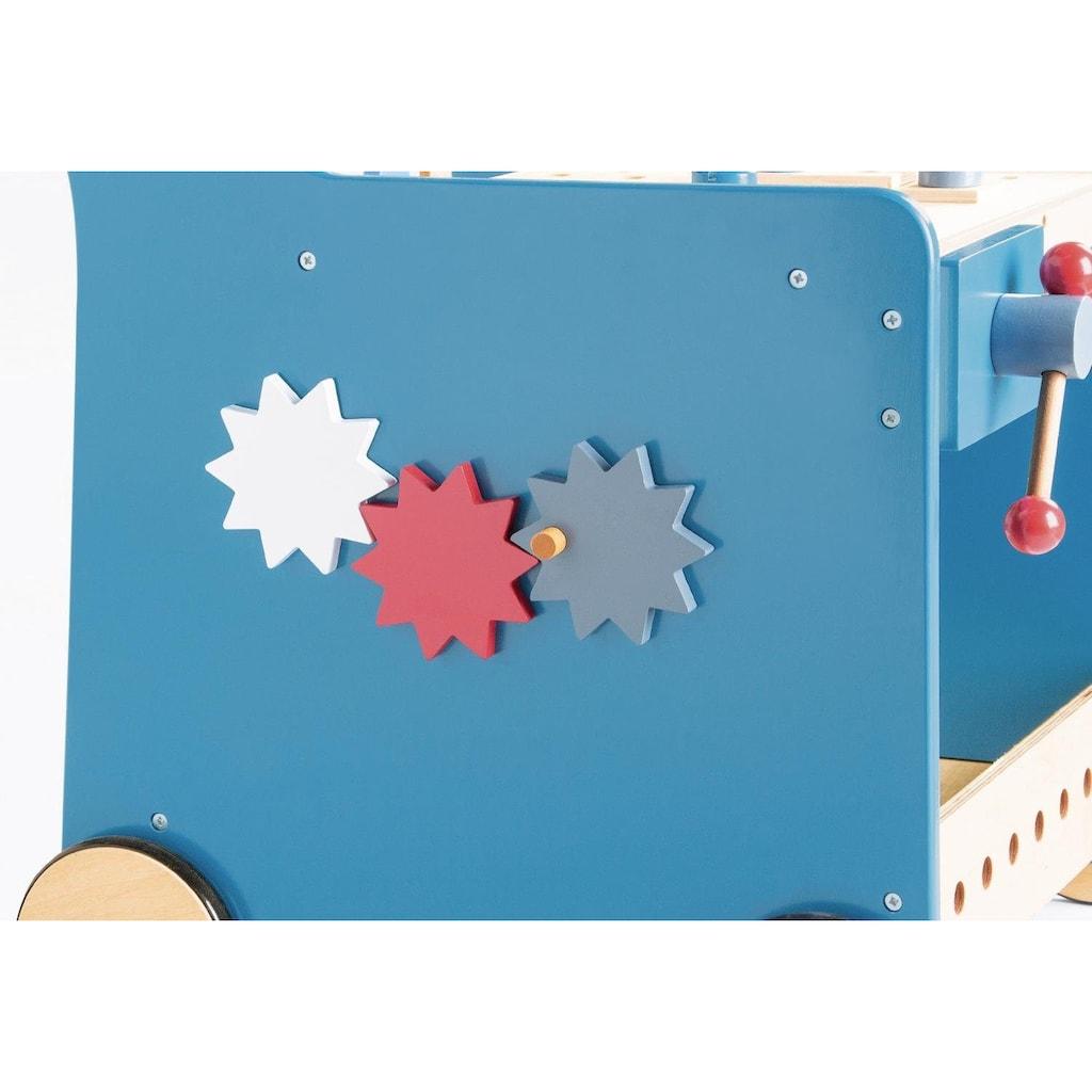 Pinolino® Werkbank »Kalle, blau«, mit 4 Rollen