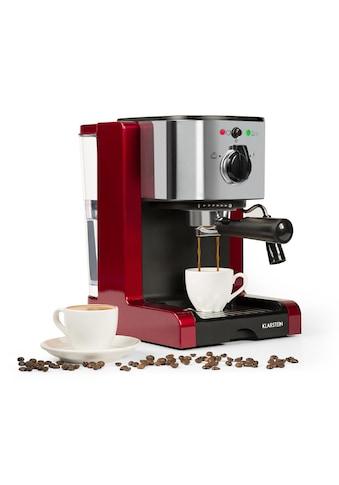 Klarstein Espressomaschine Capuccino Milchsaufschäumer Siebträgermaschine kaufen