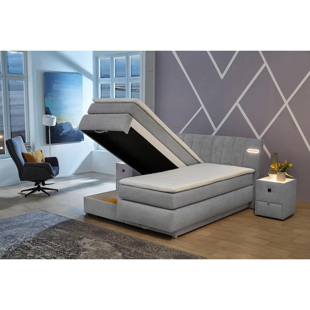 Jockenhöfer Gruppe Boxspringbett, mit Bettkasten, LED-Beleuchtung und Topper